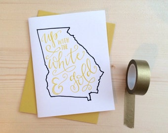 Card - Georgia Tech / Up with the White and Gold | Graduation card
