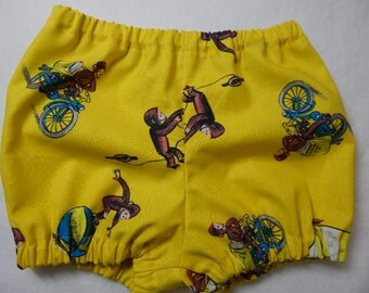 diaper cover----curious george diaper cover or shorts----curious george cake smash