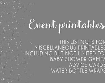 event printables