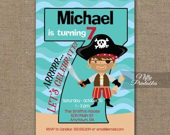 Boys Robot Birthday Invitation Th Birthday Invitations - Birthday invitation card for 7 years old boy