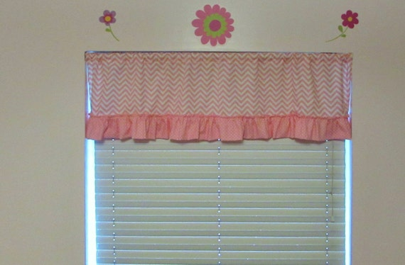Girls nursery curtains / multiple prints / create your own valance / ruffle valance