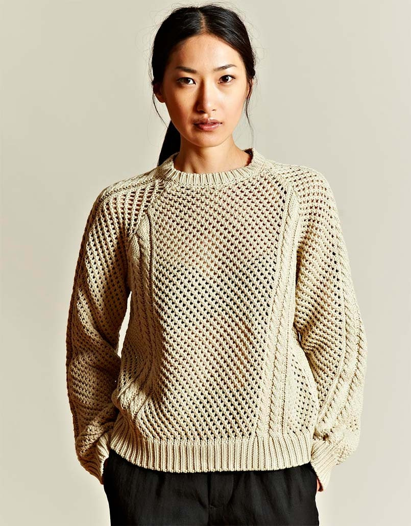 Knitting Women S Work : Hand knit women s crewneck sweater made to order