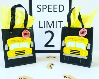 School Bus Goody Bags, School Bus Party Favor Bags, School Bus Party Decor, Yellow Bus Birthday, Back to School Favor Bags, Goody Bags
