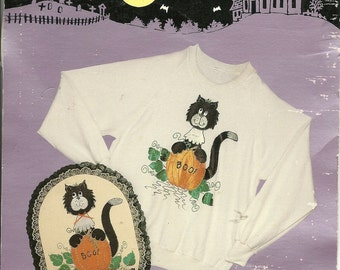 Halloween Iron-on applique kit:  Sylvester  Boo
