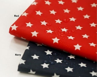 Waterproof Cotton Polyester Fabric Star in 2 Colors By The Yard