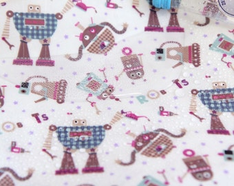 Laminated Cotton Fabric Robot By The Yard