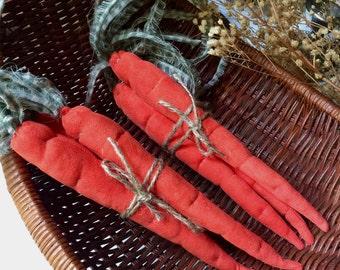 Fabric carrots, country style decor, fall decor,