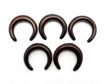 Brown Colored Crescent Perfect for wire wrapping - (RK39B1b-01)