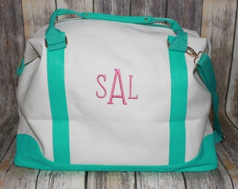 Monogrammed Weekender Bag, Monogrammed Overnight Bag,  Monogrammed Weekend Tote