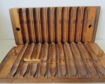 SALE  Cigar Mold - Vintage European Wood Cigar Mold- Vintage Decor - Mancave Decor - Office Decor
