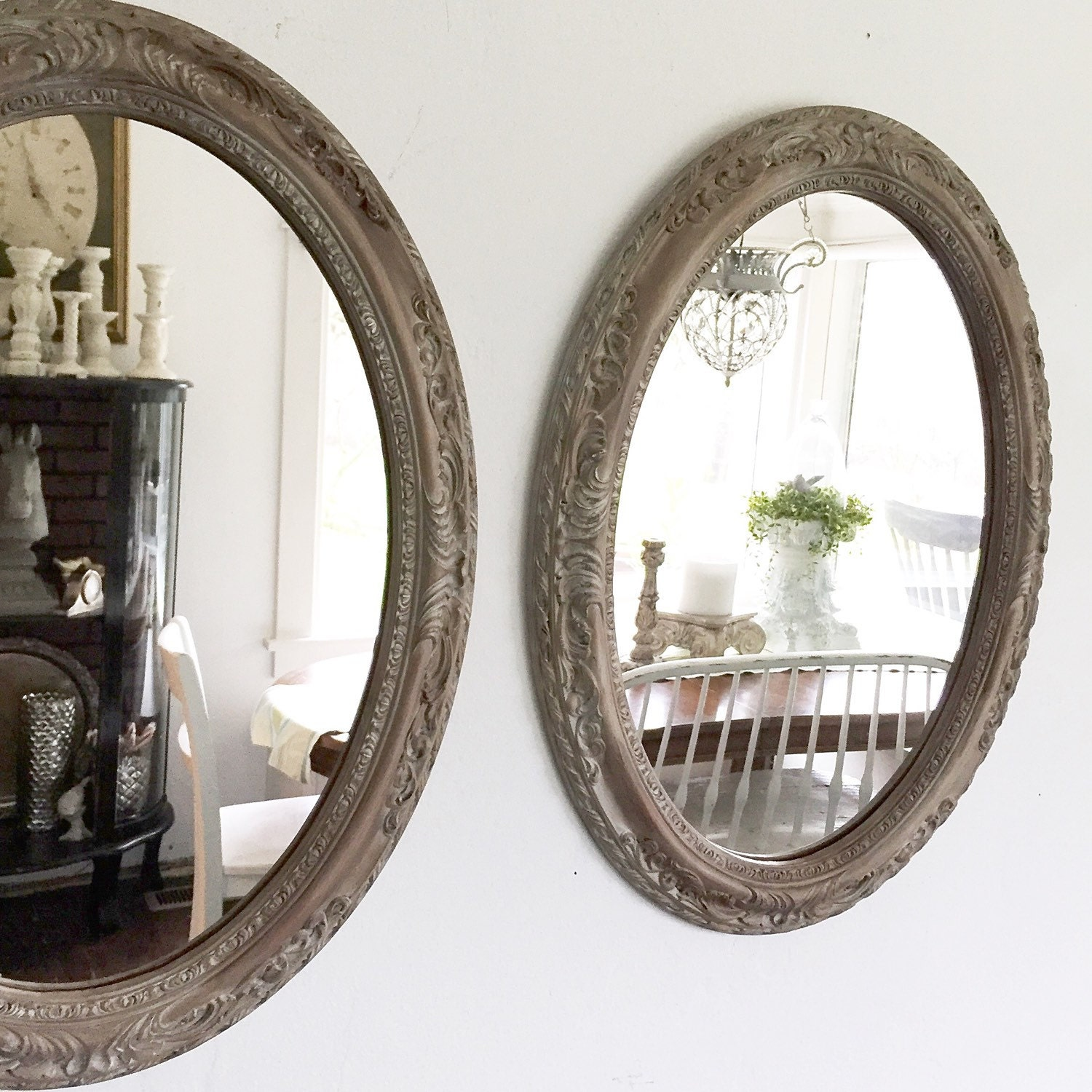 Oval Bathroom Vanity Mirrors Large Oval Mirrors Dou...