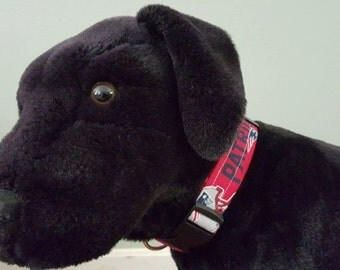 Patriots Dog Collar, Adjustable Dog Collar, Patriots Dog Accessories, Team Dog Apparel, NFL Dog Collar