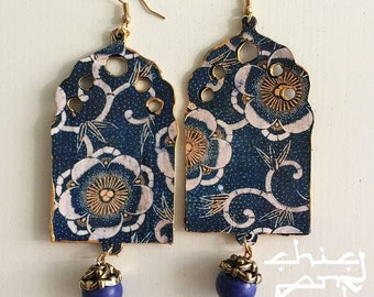 Blue and Gold Arabesque Window