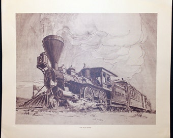 The Iron Horse by Dave Mankins * 18 x 14 Lithographic Print of Famous Railroad Scenes