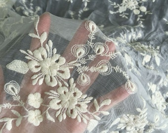 crinkle silk lace ,cotton embroidery on 100% silk fabric,wedding dress fabric,flower scaped embroidery,lace chiffon,wedding chiffon