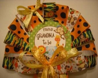 Baby shower Jungle safari Grandma CORSAGE