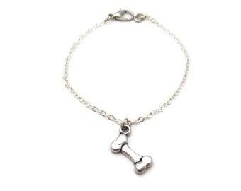 Bone Bracelet  Dog Bone Bracelet Dog Bone Jewelry Tiny Bone Bracelet Pet Lovers Gift