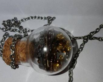 Steampunk Clockwork Jar Necklace