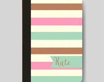 iPad Folio Case, iPad Air Case, iPad Air 2 Case, iPad 1 Case, iPad 2 Case, iPad 3 Case, iPad Mini Case, Neopolitan Stripes Personalised Case