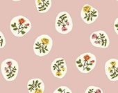 Heather Ross Tiger Lily for Windham Fabrics - Small Roses in Blush