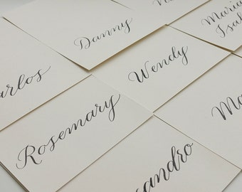 Wedding Place Cards + Modern Calligraphy