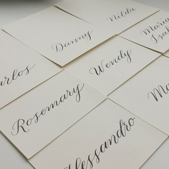 Wedding Place Cards Modern Calligraphy