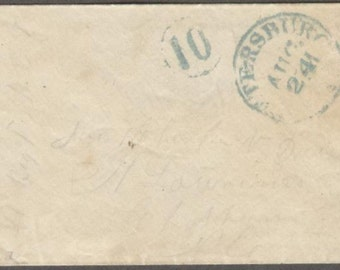 Civil War Confederate soldier cover cancelled, Petersburg, Virginia Company D, 41st Regiment North Carolina Volunteers History Memorabilia