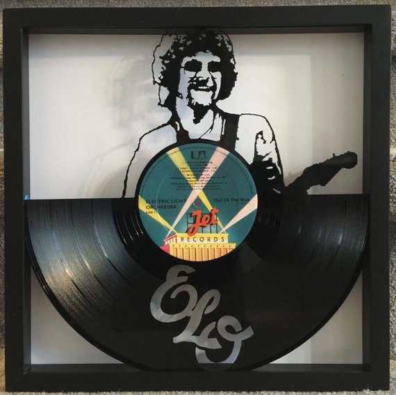 Elo Out Of The Blue Cut Framed Vinyl Lp Record Art