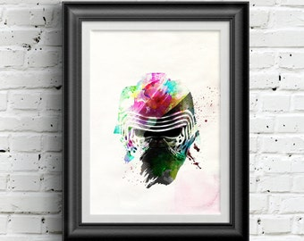 0166 Star Wars The Force Awakens Kylo Ren Poster A3 Wall Art Print Multiple Sizes