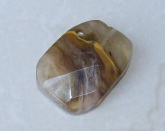 Cherry Quartz Faceted Stone - Polished Quartz Faceted Stone - Polished Natural Cherry Quartz - 31mm x 41mm - 9440