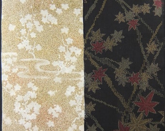 SALE! Vintage kimono silk fabric-2 pcs #7350