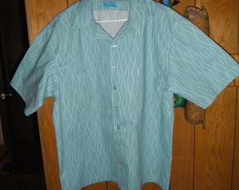 Light Blue Wave - MCM Camp Shirt (size M)