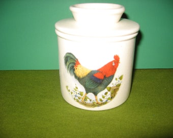 Americana  rooster  butter crock