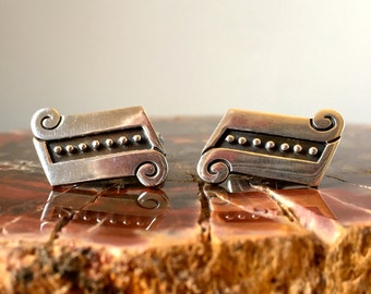 Vintage ~ REVERi (Reveriano and Maria Castillo) .925 Sterling Silver Cufflinks | Hallmarked | Taxco, Mexico | EC