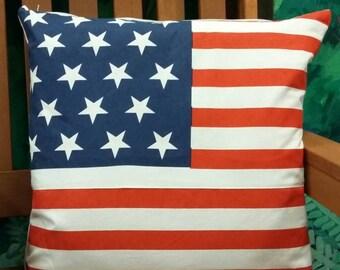 American flag cushion cover 100% cotton