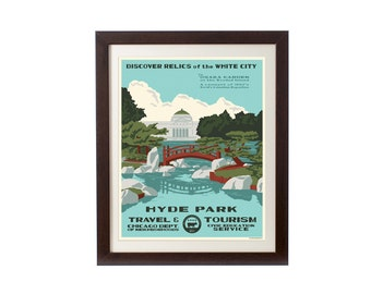 Hyde Park (Chicago Neighborhood) WPA-Inspired Poster