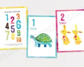 PRINTED Number Flash Cards | 10 cards