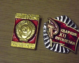 Vintage soviet badge medal (icon)  50 years USSR 1970s