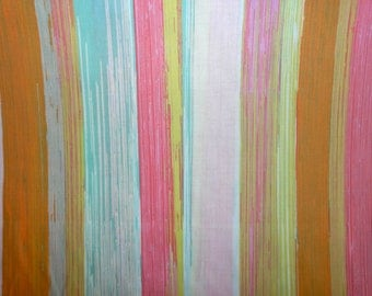 Fabric - Art Gallery - Chalk & Paint Dripping Paint Warming Voile