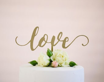 love : wedding cake topper