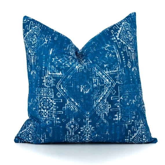 Southwestern Pillow Covers : Southwestern Couch Pillow Cover Blue Pillow Cover Premier