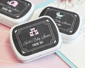 Chalkboard Wedding Personalized Mint Tins - Set of 24