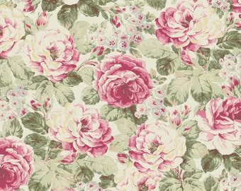 Prima Roses - Moss 2260-11A by Quilt Gate USA Cotton Fabric Yardage