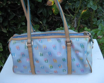 Dooney Burke vintage light blue purse signature D&B style