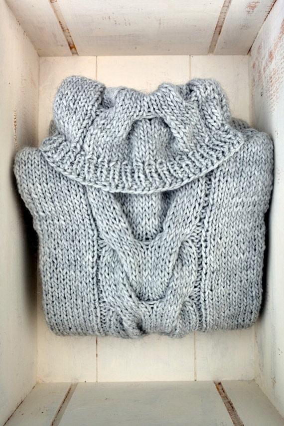 Knitting A Sweater On Straight Needles : Knitting pattern wishbone cable cowl sweater tunic