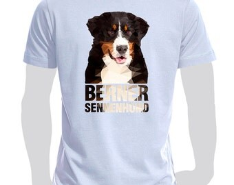 T-shirt printed with dog Bernese Mountain Dog