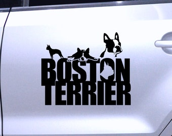 Car Sticker Dog Boston Terrier