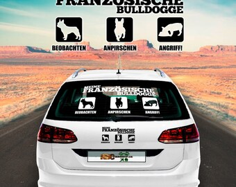 Car Sticker Dog French Bulldog Icon