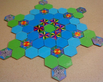 Sacred Geometry Puzzle, Meditation Play, Spiritual Mandala Game, Creative Art Gift, Geometric Design, Unique Gift Idea for Kids