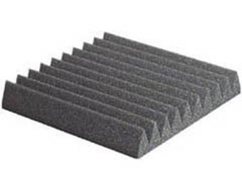"Acoustic Foam Single Tile Wedge 2"" 12"" x 12"" 1 sq Ft - Sound Proofing/Blocking/Absorbing Acoustical Foam - Made in the USA!"